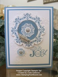 Stampin' Up! Christmas  by Linda Gutierrez at Stamping Year Round: DAYDREAM MEDALLION