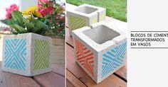 Vaso feito com bloco de concreto