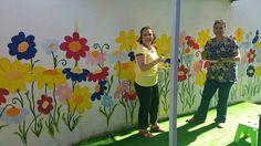 Münevver  hocam  ile duvar  boyama