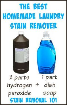 This is the best homemade laundry stain remover recipe! It removes a very large variety of stains, is cheap, frugal, and quite simple! Overall it's just awesome sauce! {on Stain Removal 101}