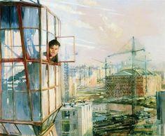 Юрий Пименов Район завтрашнего дня 1957.