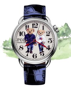 """Ralph Lauren on Instagram: """"Celebrate the spirit of friendship and togetherness with the Ralph & Ricky Bear Watch. Recreating a 1996 photograph of Ralph & Ricky…"""" Bedford New York, Women Accessories, Polo Ralph Lauren, Steel, Watches, Unity, Holding Hands, Bears, Fine Jewelry"""