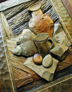 Sculpture cut much easier than relief Wood Carving Patterns, Wood Carving Art, Wood Art, Architectural Elements, Wood Sculpture, Pyrography, Creative Gifts, Wood Crafts, Cardmaking