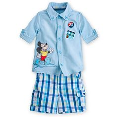 Mickey Mouse Woven Shirt and Shorts Set for Baby