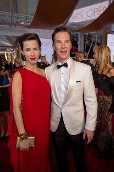Favorite. Mr. & Mrs. Cumberbatch (and the future Cumberbaby!) #Oscars