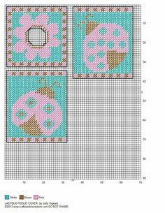 Ladybug Tissue Box Cover