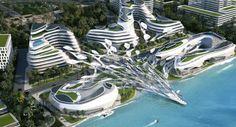 Futuristic City, Futuristic Architecture, Concept Architecture, Amazing Architecture, Architecture Design, Urban Design Concept, Eco City, Future Buildings, Unusual Buildings