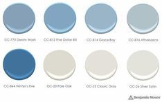 Birch Paint Palette - neutral Benjamin Moore paint colors recommended by Sarah Richardson Blue Paint Colors, Bathroom Paint Colors, Blue Colour Palette, Interior Paint Colors, Paint Colors For Home, House Colors, Bedroom Colors, Interior Plants, Colour Schemes