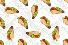 Pattern taco scetch and color