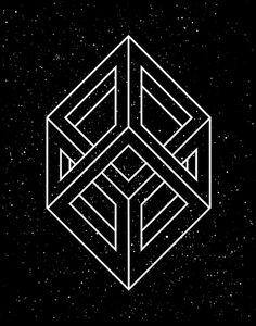 Hypercube, by T/KEC/RE (Kostya Sasquatch), Sacred Geometry <3