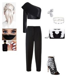 """""""Untitled #402"""" by insafsat on Polyvore featuring Alexander McQueen, Balmain, Givenchy, Cartier, Keiko Mecheri and Lime Crime"""