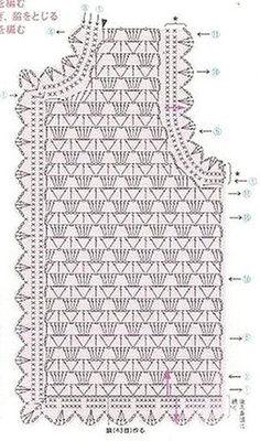 Black Crochet Dress How To Crochet A Crochet - Diy Crafts - maallure Crochet Vest Pattern, Black Crochet Dress, Crochet Cardigan Pattern, Crochet Shirt, Crochet Jacket, Crochet Diagram, Knitting Patterns, Crochet Patterns, Crochet Vests