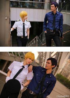 Char: Aomine Daiki & Kise Ryouta. Coser: Kumaqi & XiLou76