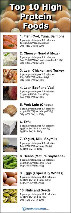 Muscle: Top 10 Foods Highest in Protein Per Calorie Protein Rich Foods, High Protein Snacks, Best Protein, High Protein Low Carb, High Protein Recipes, Healthy Snacks, Healthy Eating, Foods Highest In Protein, High Protein Diets