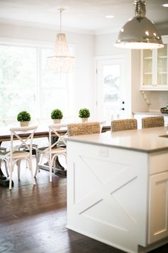 "West St. Paul Model: Custom Home by SD Custom Homes.  Kitchen island with ""X"" detail.  Designer: Bria Hammel Interiors"