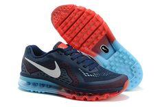 Nike Air Max 2014 Mørkblå Lysblå Rød Herre