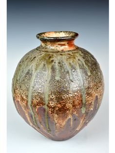 shino vase sold at art in clay hatfield house 2014