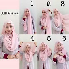 27 Trendy How To Wear Hijab Ideas Tutorials Head Wraps Square Hijab Tutorial, Simple Hijab Tutorial, Pashmina Hijab Tutorial, Hijab Style Tutorial, Habits Musulmans, How To Wear Hijab, Modele Hijab, Hijab Fashion Inspiration, Hijabi Girl