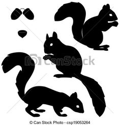 Illustration of Set of squirrels silhouettes isolated on white background vector art, clipart and stock vectors. Art And Illustration, Free Illustrations, Graphic Design Illustration, Squirrel Silhouette, Animal Silhouette, Silhouette Vector, Web Paint, Kirigami, Woodworking Crafts