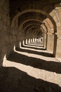 Circular Colonnade in Amphitheatre at Aspendos, Turkey