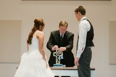 Unity Cross during winter wedding @The Unity Cross