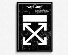 X Marble Wall Art Poster, Hypebeast Poster, Streetwear Poster, Sneakerhead Poster, Pop Culture Trend