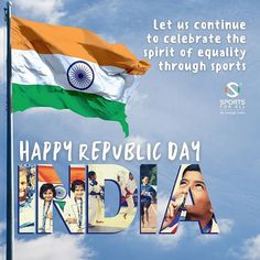 """Sports For All on Instagram: """"It's number 72! Happy Republic Day to all Indians across the globe from Team SFA! 🙌 As we celebrate the establishment of our Constitution,…"""" Indian Flag, Republic Day, Constitution, Globe, This Is Us, Number, Celebrities, Happy, Sports"""