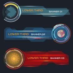 Lower third banners royalty free illustration Lower Thirds, Banner Vector, Game Ui, News Channels, Free Illustrations, Sports News, Banners, Royalty, Presentation