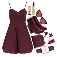 Outfit by dzikenpaulinken on Polyvore featuring polyvore, fashion, style, Topshop, Sergio Rossi, STELLA McCARTNEY, Michael Kors, Lucy Folk, The Row, Yves Saint Laurent, Molton Brown and clothing