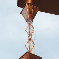 Have to have it. Monarch Pure Copper Heirloom Rain Chain - 8.5 ft. - $109.99 @hayneedle.com