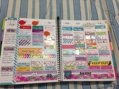 Double page spread - using my planner this way doesn't work for me, but I love looking at this! So colorful!