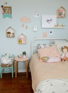 s room, pastel girls room, scandinavian kids rooms. Pastel Girls Room, Girls Bedroom, Bedroom Decor, Bedroom Ideas, Trendy Bedroom, Childrens Bedroom, Wall Decor, Mural Wall, Girl Nursery