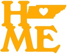 Tennessee Home Heart Vinyl Decal