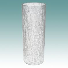 "#5926 F - Clear Crackle Glass Cylinder 4 1/4"" x 11 1/8"" - Glass Lampshades"