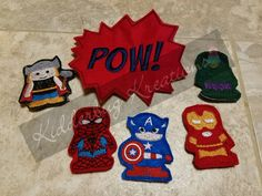 Superhero finger puppets set 2
