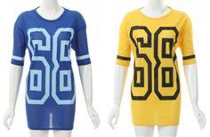 NEW WOMENS OVERSIZED CASUAL VARSITY AMERICAN FOOTBALL 63 JERSEY LONG TOP T-SHIRT