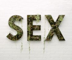 'SEX' text sculpture by Doug Aitken