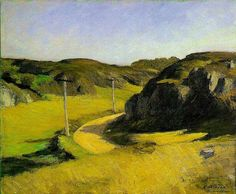 Edward Hopper, Carretera en Maine, 1914. Óleo sobre lienzo, 61 x 73,7 cm. Whitney Museum of American Art. New York, EEUU