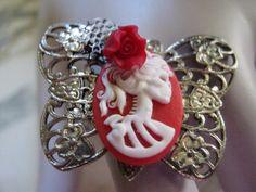 Gothic Butterfly Ring. $22.50, via Etsy.