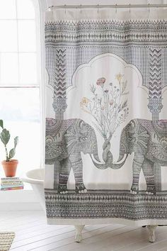 Shower curtains don't get enough love. Besides their obviously functional purpose, they can totally pull the bathroom together. Update your bathroom with one of these trendy shower curtains: