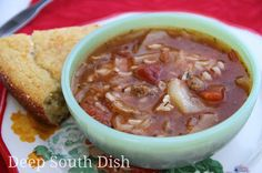 satisfying cabbage soup made with a chicken or beef stock and tomato ...
