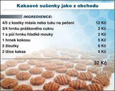 Levně a chutně s Ladislavem Hruškou - Kakaové sušenky Cupcake Cookies, Cupcakes, No Bake Cake, Dog Food Recipes, Food And Drink, Keto, Bread, Homemade, Baking