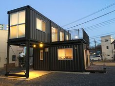 Container Buildings, Building A Container Home, Container Architecture, Eco Architecture, Container House Design, Container House Plans, Storage Container Homes, Shipping Container Homes, Prefabricated Houses
