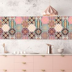 Impresionante azulejos adhesivos estilo vintage que compondrá la decoración de tu cocina. #azulejosenvinilo Kitchen Interior, Home Interior Design, Kitchen Decor, Minimal House Design, Modern Kitchen Design, Kitchen Backsplash Inspiration, Palm Beach Decor, Bedroom Wall Designs, 3d Home