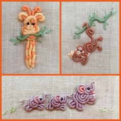 Bullions! I love this stitch and seeing what new whimsy I can create. Kari Mecca of Kari Me Away