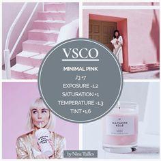 Minimal Pink VSCO theme -  NSTAGRAM THEME WITH VSCO APP — Nina Tailles