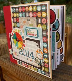 2014 Scrapbook Journal Planner Kit or Premade Album by ArtsyAlbums, $48.99