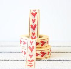 Washi Tape, Heart Washi Tape, Planner Washi Tape, Valentine Decorative Paper Tape, Planner Decoration, Planner Sticker, Craft Gift Wrap