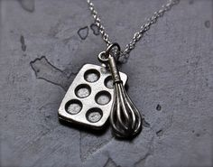 The Baker's Necklace  Sterling Silver Chain  by TheBumblingBird, $26.00