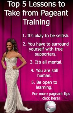 Top 5 Lessons to Take from Pageant Training http://thepageantplanet.com/top-5-lessons-to-take-from-pageant-training/